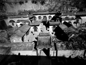 姜氏窑洞庄园的正院和后窑院