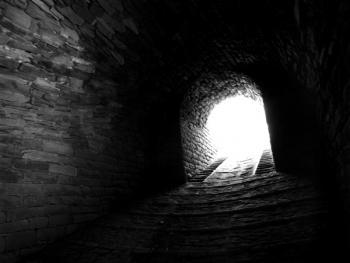 姜氏窑洞庄园的窑坡入口