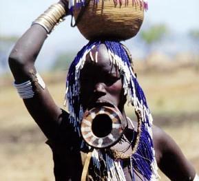 埃塞俄比亚原住民造型争艳