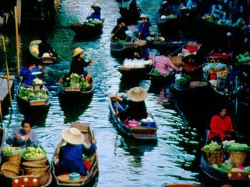 泰国水上市场10