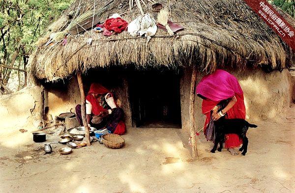 建筑 摄影 民居/印度拉贾斯坦邦和古吉拉特邦的乡村民居建筑 (5)