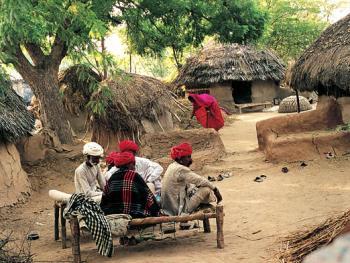 印度拉贾斯坦邦和古吉拉特邦的乡村民居建筑 (7)
