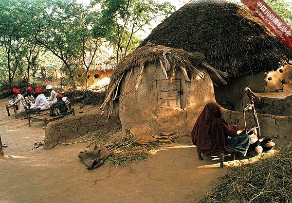 建筑 摄影 民居/印度拉贾斯坦邦和古吉拉特邦的乡村民居建筑 (8)