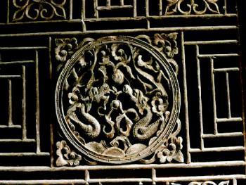 胡氏大院门窗雕饰