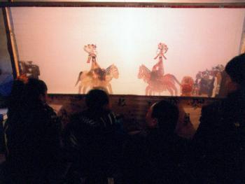 驴皮影第一女戏班