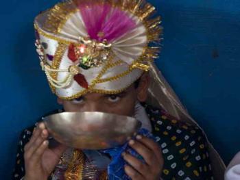 Rabari部落的儿童婚礼