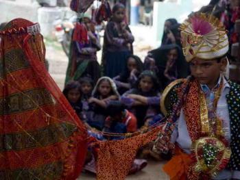Rabari部落的儿童婚礼02
