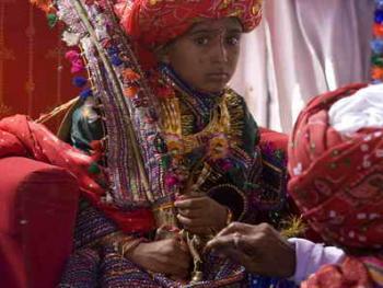 Rabari部落的儿童婚礼05