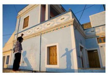 希腊喀帕苏斯岛的房屋