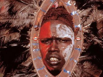 红赭石、白石粉——乌干达的马萨伊人12