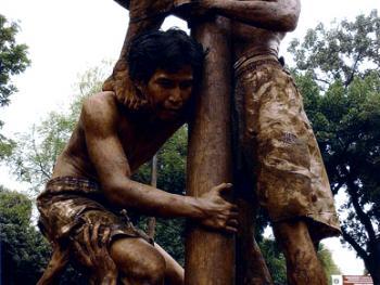 爬槟榔树比赛02