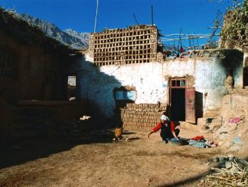 土峪沟民居的院落