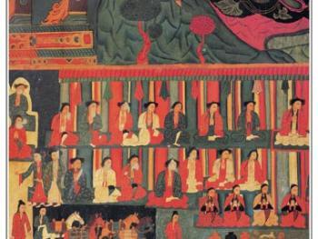 古格壁画是古格艺术的精品。这些壁画包括佛教故事,神话传说以及当时古格人的生产、生活场面等等,内容十分丰富。透过这些绚丽斑斓的图画,人们不难窥视到昔日古格王朝的政治经济活动以及文化风情。