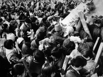 每年的农历二月十五是祭祖的正日,这天从各地来太昊陵的香客也达到了最高峰02