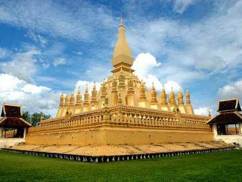 老挝的建筑04万象大金塔
