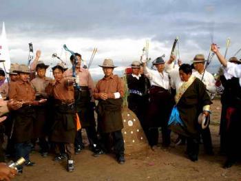 青海藏族民间传统射箭比赛03