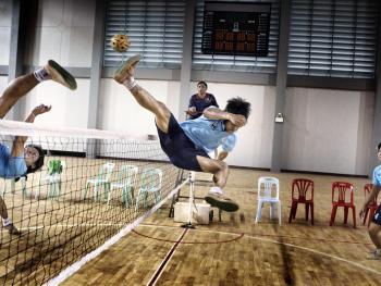 老挝的藤球运动07