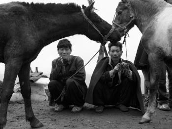 牲畜市场上的彝族人