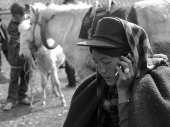 牲畜市场上的彝族人05