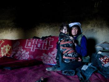 帕米尔高原的塔吉克妇女