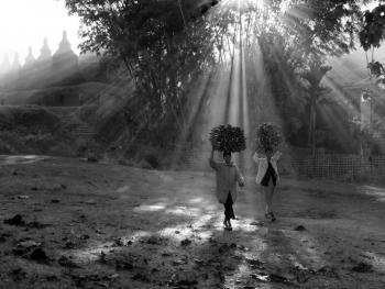 劳作中的缅甸妇女10