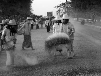 劳作中的缅甸妇女02