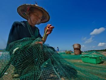 京族拉大网捕鱼10