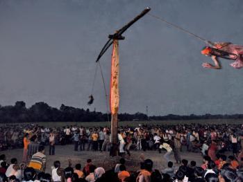 查拉克法会的竖杆仪式09