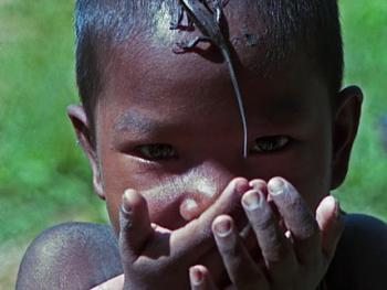 印度尼西亚丛林里的孩子