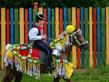 捷克小镇上的国王游行
