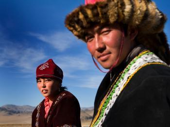 蒙古哈萨克人猎鹰者05