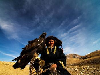 蒙古哈萨克人猎鹰者08