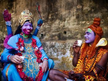 印度神灵扮演者09