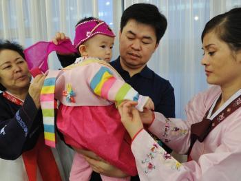 朝鲜族抓周09