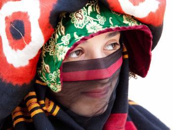 也门妇女的传统披盖11
