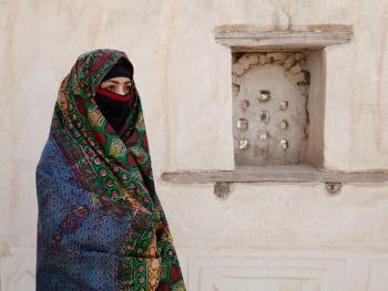 也门妇女的传统披盖12