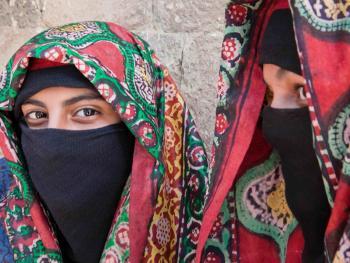 也门妇女的传统披盖01