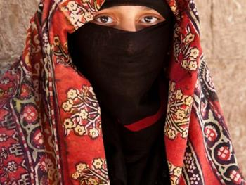 也门妇女的传统披盖04