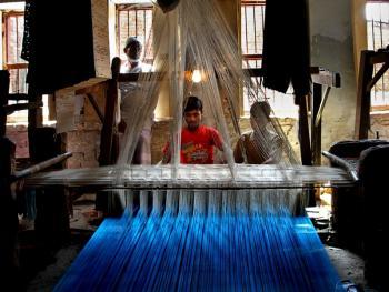 瓦拉纳西的纱丽制造