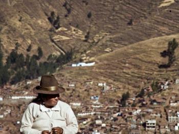 秘鲁安第斯山的山民