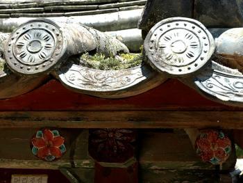 韩国传统建筑上的瓦片02