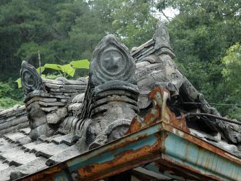 韩国传统建筑上的瓦片04