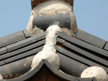 韩国传统建筑上的瓦片06