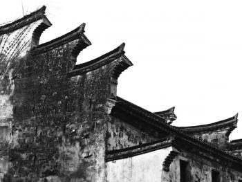 中国徽居的墙瓦