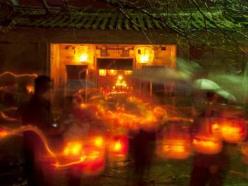 潮汕乡村的游灯14