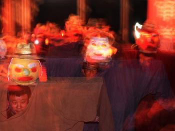 鲁南傩戏人灯舞10