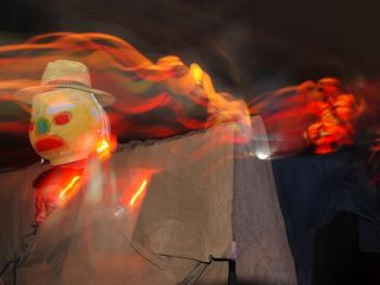 鲁南傩戏人灯舞