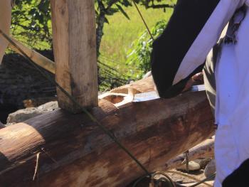苏拉威西罗勃木屋的建造13