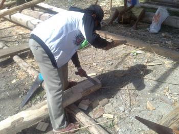 苏拉威西罗勃木屋的建造03