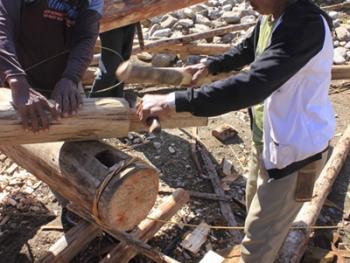 苏拉威西罗勃木屋的建造06